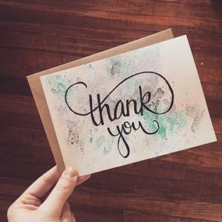 Hand-Written Thank You Card